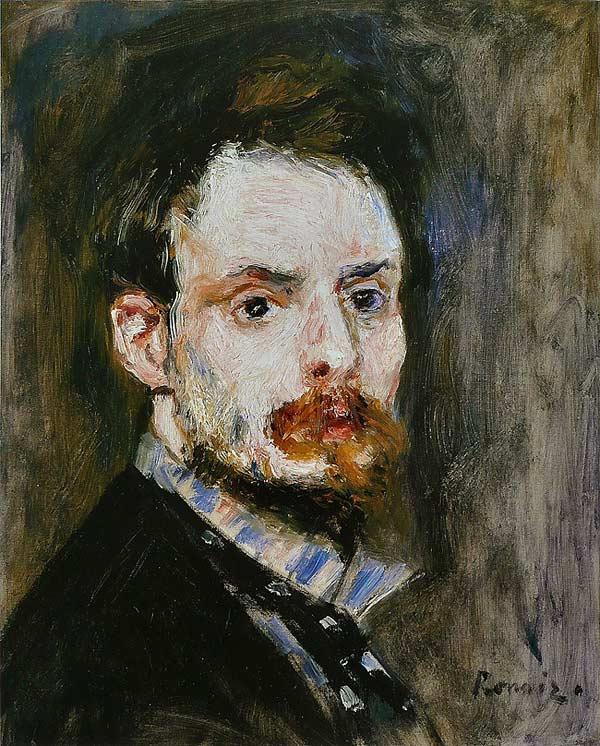 Pierre Auguste Renoir autoportrait 1875