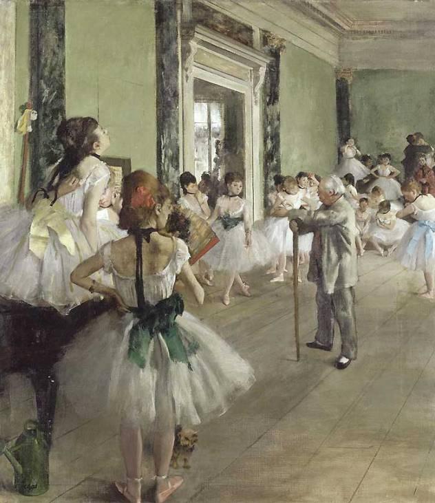 La classe de danse, representation des danseuses