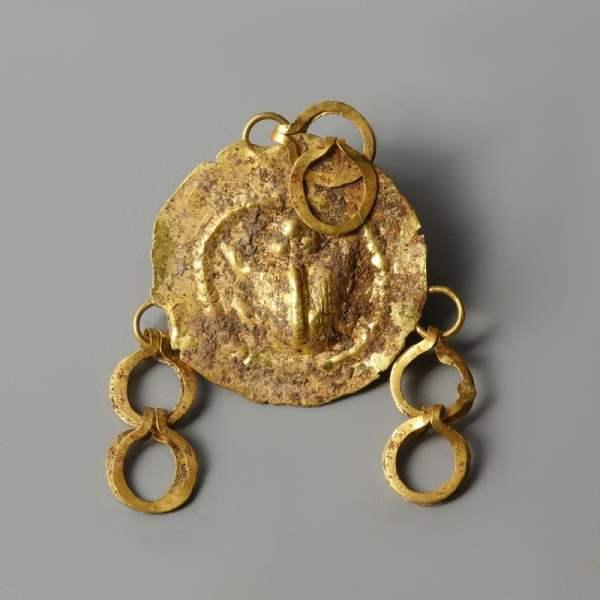 Ancient Greek Gold Repoussé Pendant