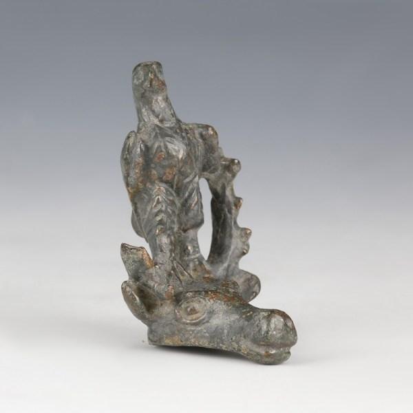 Roman Bronze Eagle On a Stag's Head