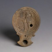 Roman Lamp With Gladiator Figure