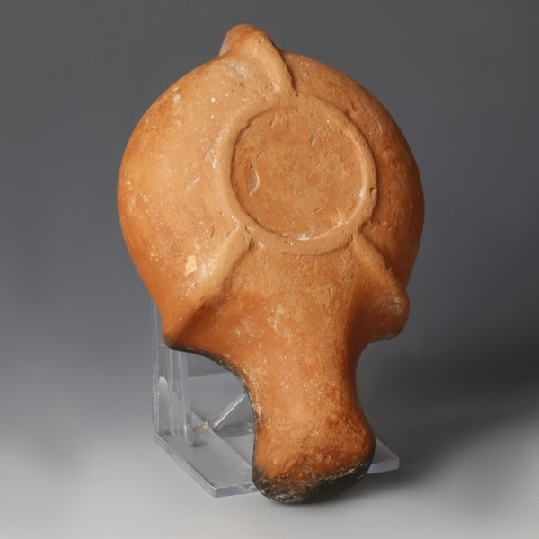 Roman Oil Lamp with Four Pointed Double Star