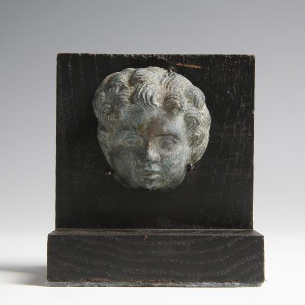 Fine Roman Putto Head Applique