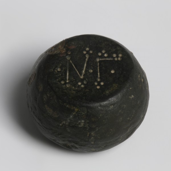 Byzantine Barrel-Shaped Bronze Weight