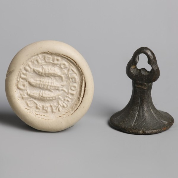 Medieval Seal with Three Fish