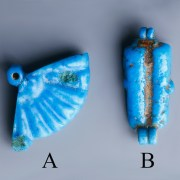 Brilliant Blue Amarna Beads