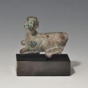 Bronze Archaic Goat Mount