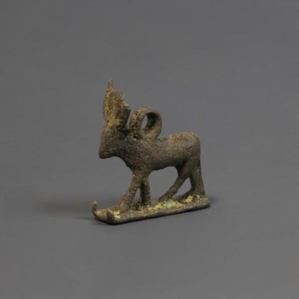 Egyptian Silver Apis Bull Amulet