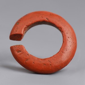 Egyptian New Kingdom Faience Hair Ring