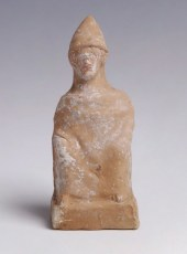 Greek Terracotta of a Seated Man