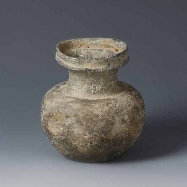 Indented Roman Glass Jar