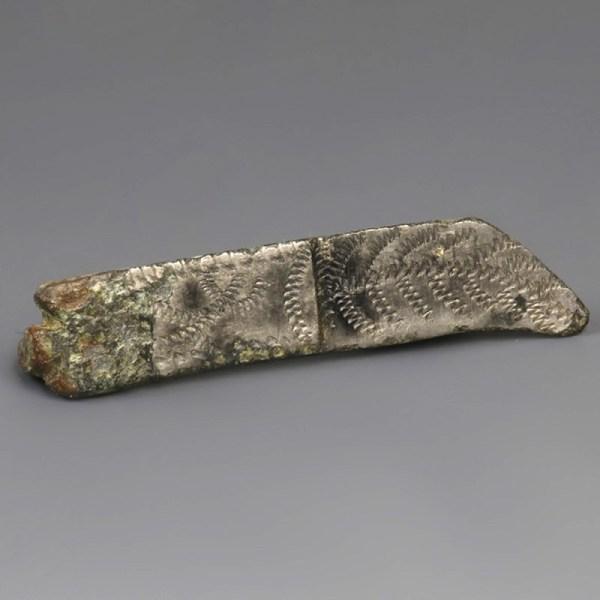 Roman Tinned Knife Plate Brooch