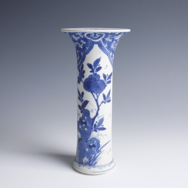 Chinese Kangxi Blue and White Vase