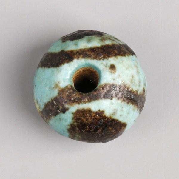 Egyptian Middle Kingdom Faience Ball Bead