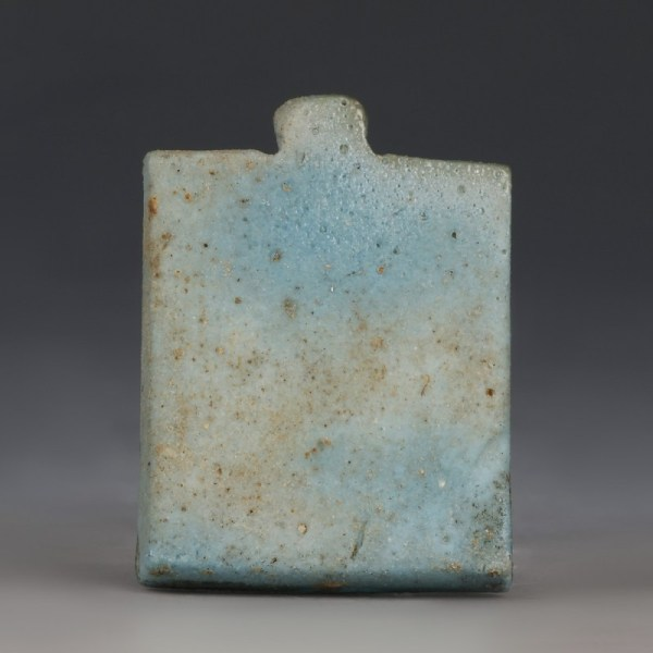 Glazed Faience Osirian Triad Amulet