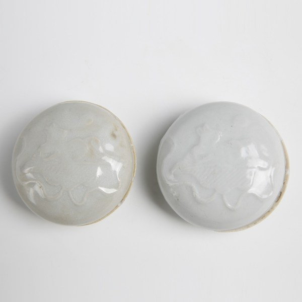 Tek Sing Small Circular White Glazed Boxes