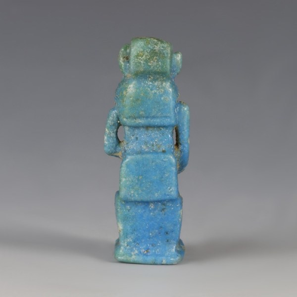 Superb Egyptian Blue-Glazed Seated Sekhmet