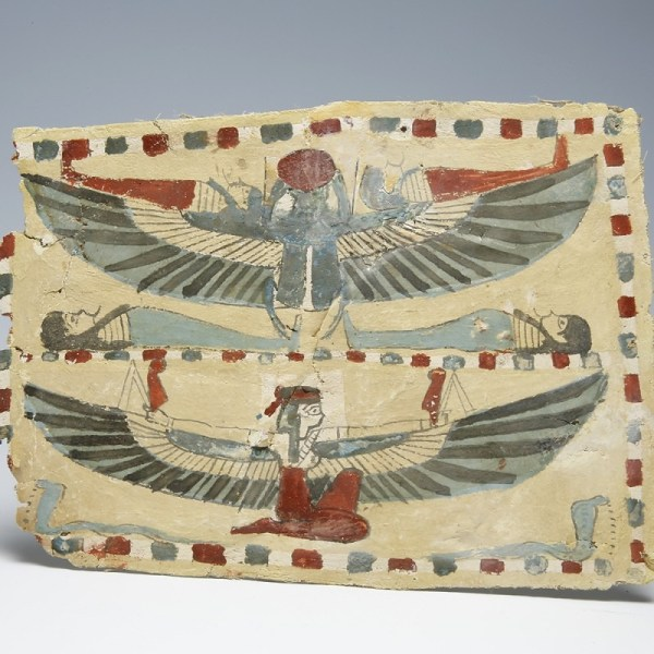 Egyptian Cartonnage with Winged Isis