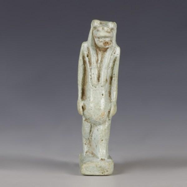 Superb Egyptian Glazed Thoeris Amulet
