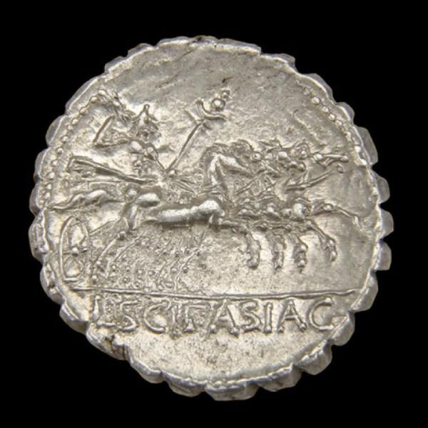 L. Cornelius Scipio Asiagenus Ar. Denarius