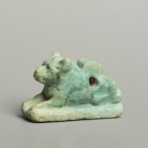 Egyptian faience lioness amulet
