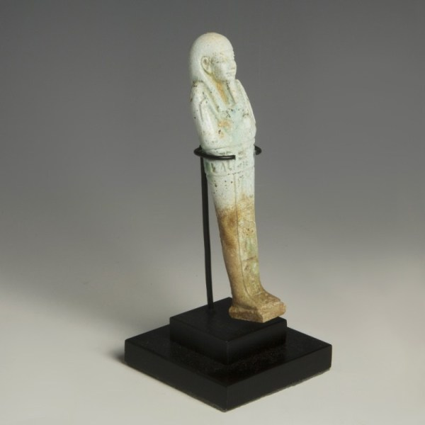 Blue Faience Egyptian Shabti