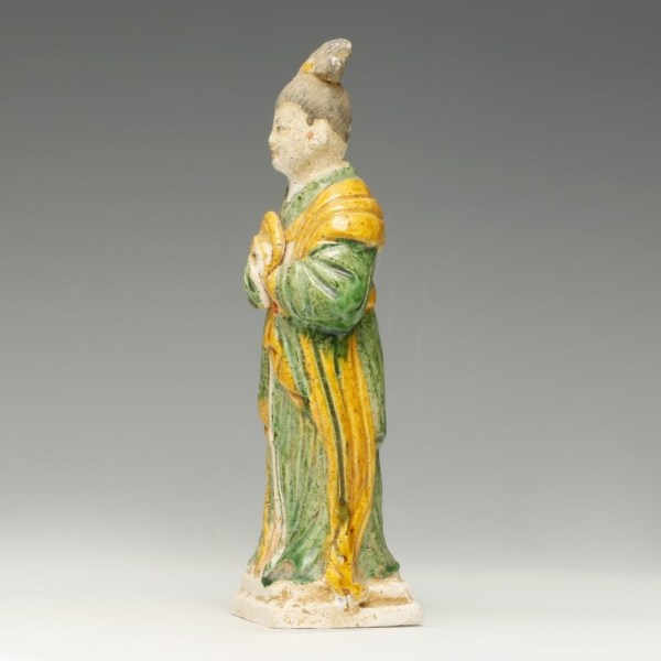 Chinese Ming Dynasty Attendant with Musical Instrument