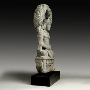 gandharan stone statue of bodhisattva
