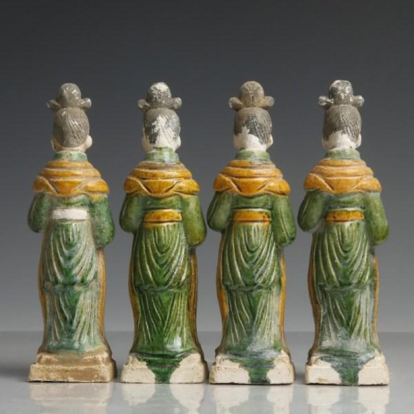 Ming Dynasty Green-Glazed Attendants
