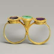 Roman Gold Triple-bezel Ring