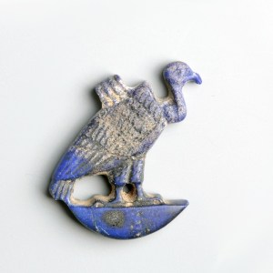 Rare Egyptian Amarna Vulture Amulet in Lapis