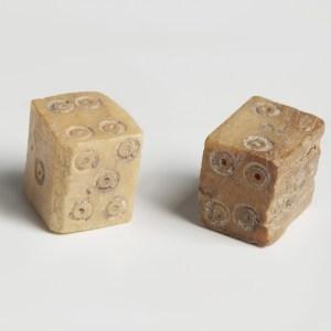 roman bone dice pair