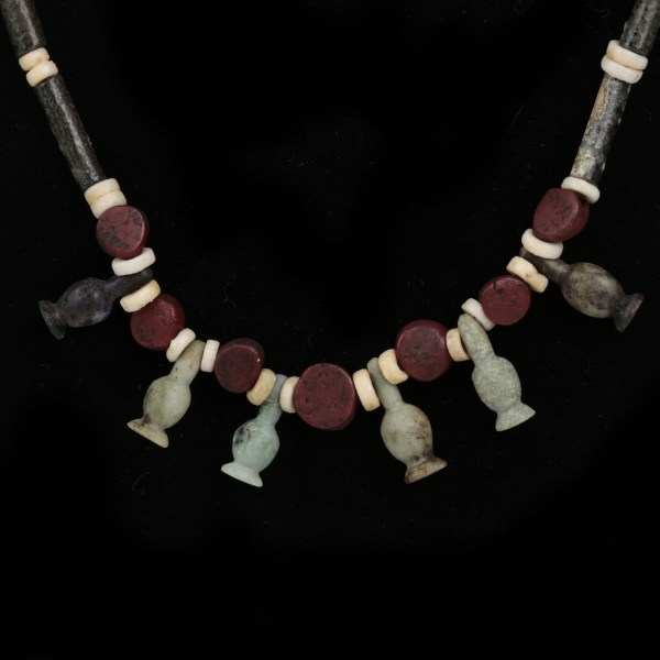 Egyptian Necklace with Poppy Beads