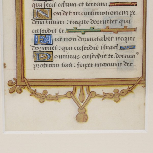 Illuminated Vellum Leaf
