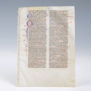 Medieval Leaf from the Book of Lamentations