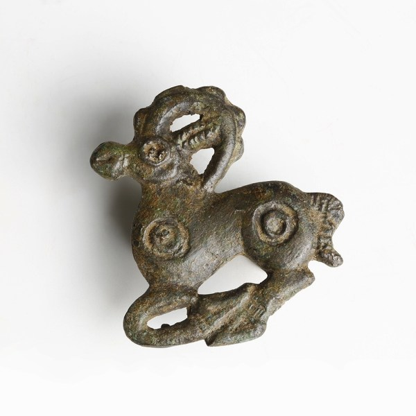 Ordos Bronze Ibex Belt Plaque