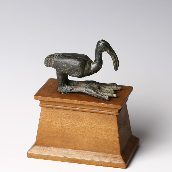 Egyptian Bronze Ibis Statue