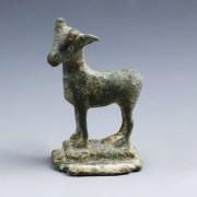 Roman Bronze Figurine of a Goat