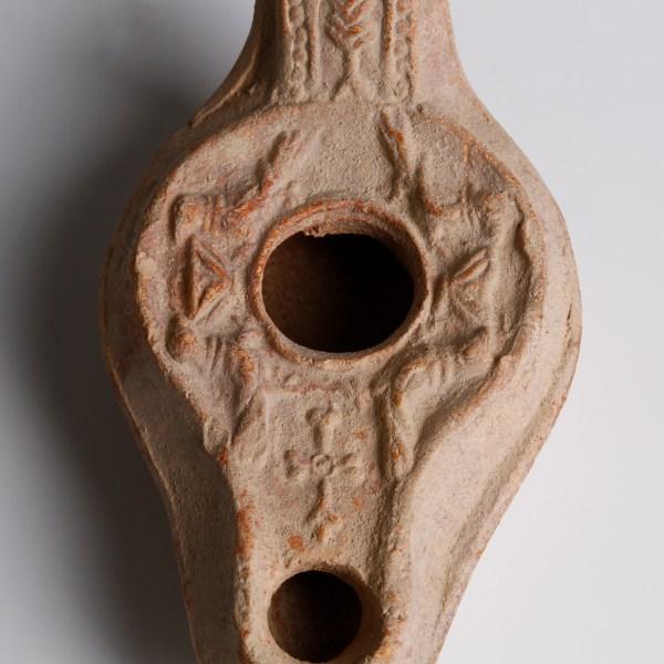 Byzantine Oil Lamp with Motifs of Birds