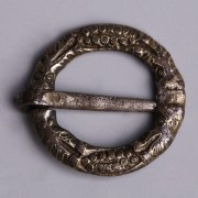 Medieval Silver Gilded Ring Brooch