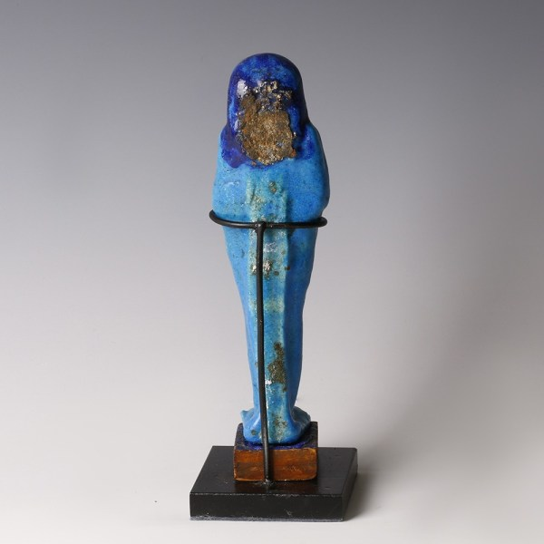 Late Period Heavy-Glazed Faience Ushabti