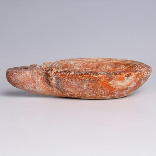 Roman 1st Century Oil Lamp with Erotic Scene