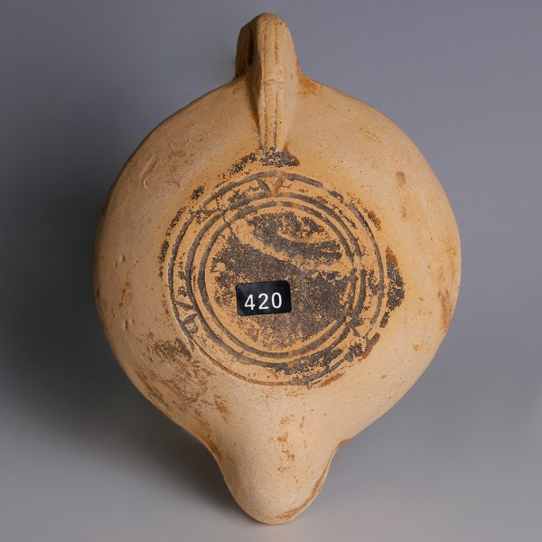 Roman Terracotta Oil Lamp with Luna & Sol Invictus