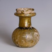 Roman Yellow Glass Sprinkler Flask