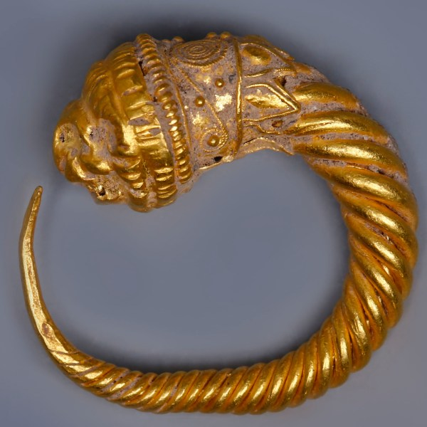 Ancient Greek Hellenistic Lion's Head Earring