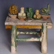 Sancai Glazed Ming Dynasty Offerings Table