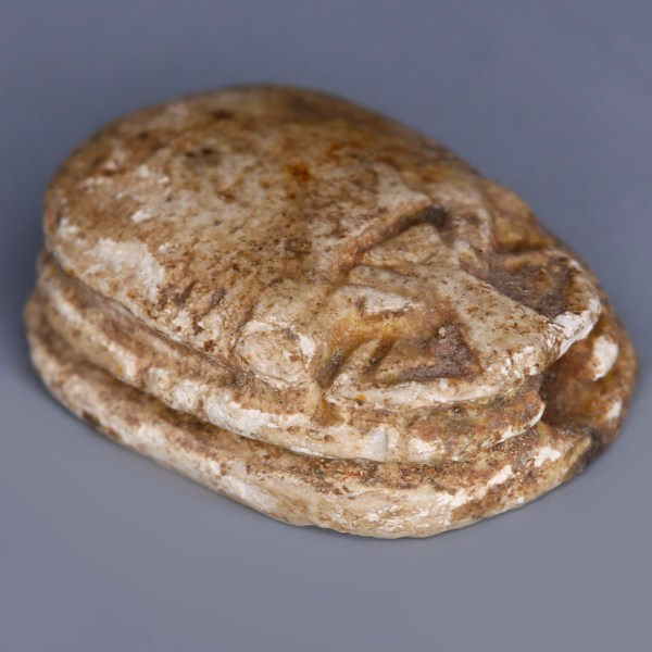 Egyptian Steatite Scarab Dedicated to Amun-Ra and Ma'at