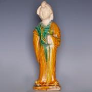 Tang Sancai-Glazed Standing Female Figurine