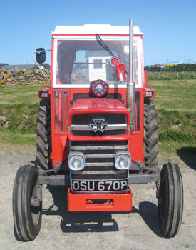 winning tractor Tiree Agricultural Show