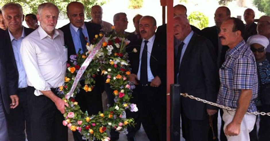 Image result for corbyn laying wreath